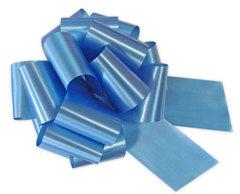 Бант-шар однотонный 30х110 (голубой)