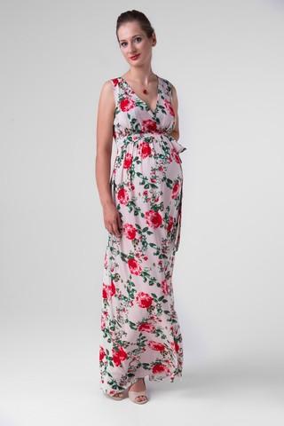 Платье для беременных 06185 цветочный принт