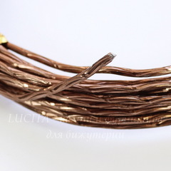 Проволока для рукоделия 2 мм, цвет - коричневый, примерно 5 метров