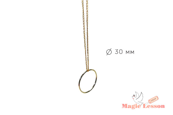 Фокус с кольцом на цепочке
