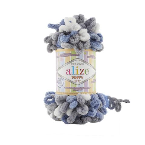 Купить Пряжа Alize Puffy Color Код цвета 6075 | Интернет-магазин пряжи «Пряха»