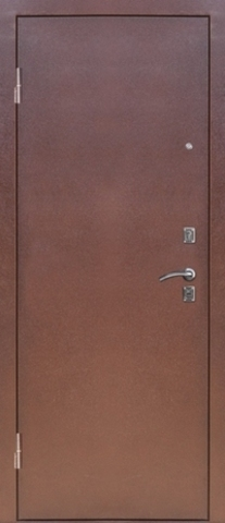 Стальная дверь Сибирь S-4, 1 замок, 1,2 мм  металл (медь+итальянский орех)