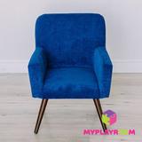 Детское стильное кресло в стиле 60-х, глубокий синий 3