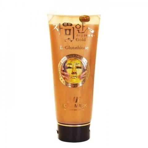24K Gold Mask Антивозрастная маска для лица с глутамином 220 гр