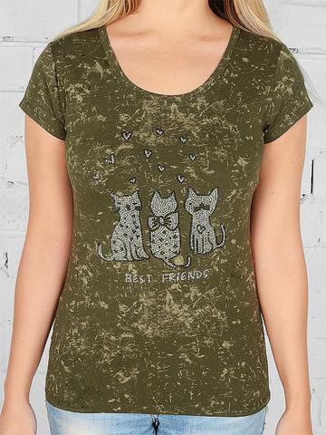 W630-18 футболка женская, хаки