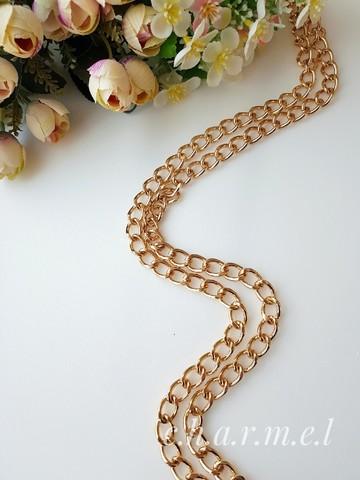 Цепь звено 10 х 15 мм , длина 120 см, цвет золото
