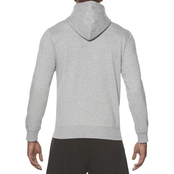Мужская толстовка с надписями Asics Graphic Hoodie (131532 0714) серая фото