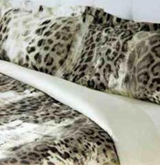 Постельное белье 2 спальное евро макси Roberto Cavalli Jaguar Grigio