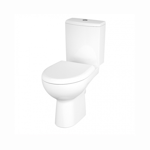Безободковый унитаз напольный Cersanit NATURE NEW CLEAN ON 011 S-KO-NTR011-3/5-COn-DL-w сиденье дюропласт