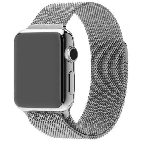 Миланское плетение для Apple Watch 42/44mm Silver