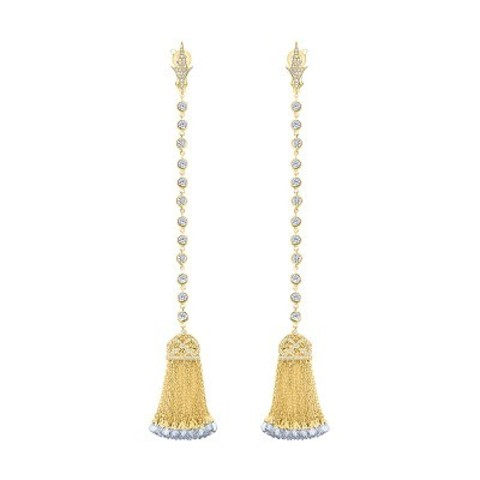 Серьги с кисточками из серебра в стиле Ko Jewelry 4494