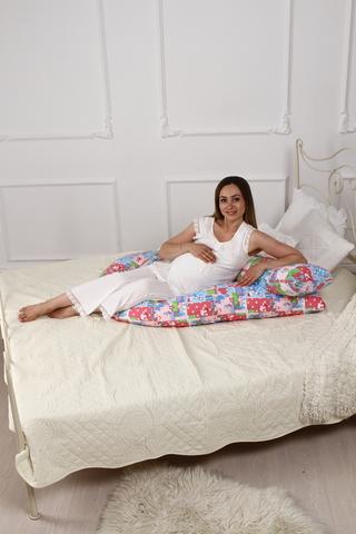 Подушка для беременных U360 (полистирол + лебяжий пух) 10090 аисты