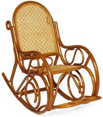 Кресло-качалка MILANO (разборная) / без подушки / ротанг top quality,  pecan matted black washed