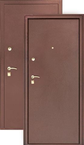 Сейф-дверь Сибирь S-3/3, 2 замка, 1,5 мм  металл (медь+медь)