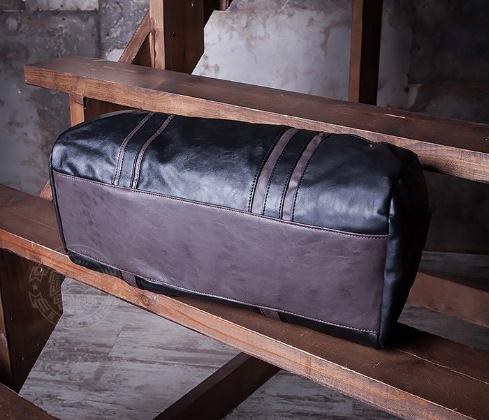 BAG408-1 Стильная мужская сумка из кожи с ремнем на плечо фото 06