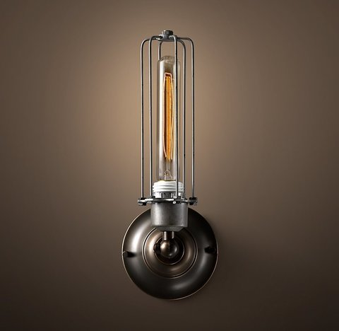 Edison Caged Sconce