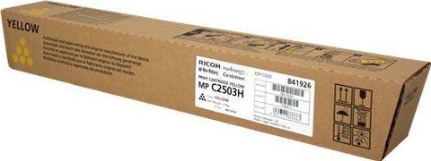 Тонер-картридж большой емкости Ricoh тип MPC2503H желтый для Ricoh MP C2011, C2003, C2503 C2004, C2504. Ресурс 9500 стр. (841926)