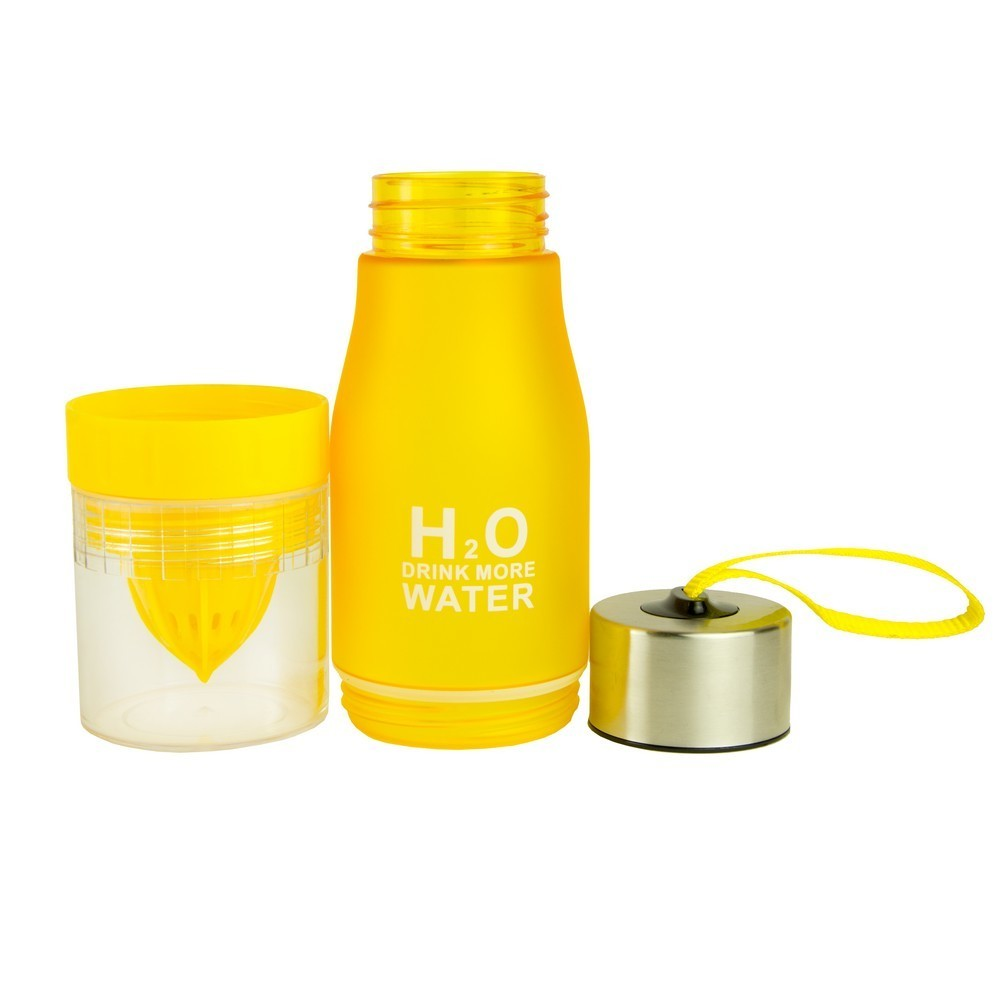 Бутылка с соковыжималкой H2O желтая