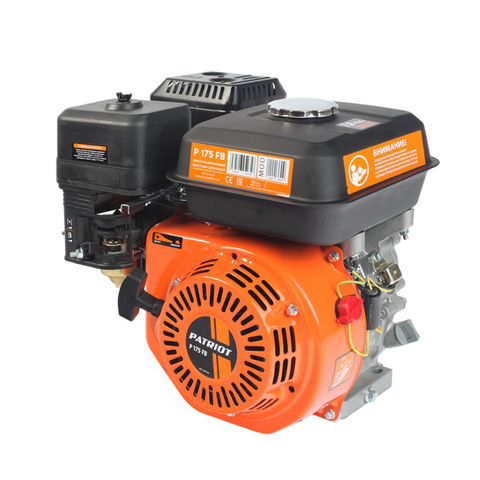 Двигатель бензиновый P175FB, Мощность 7,8 л.с.; 220см³; 3600об/мин; бак 3,6л.; хвостовик 19,05мм, шпонка; вес 15 кг.