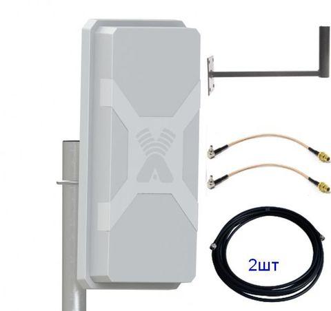 Антенный комплект Nitsa-5 MIMO с кабельными сборками и пигтейлами для модемов
