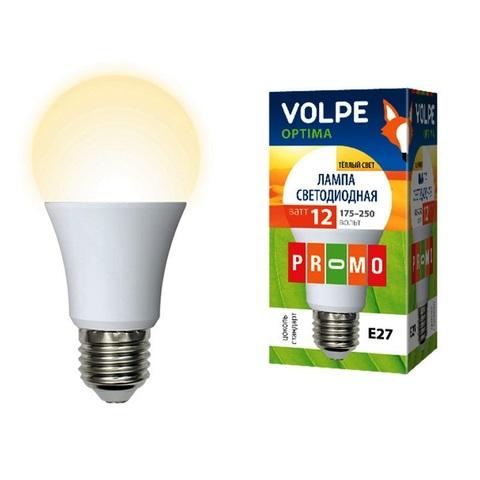 Volpe Лампа LED-A60-12W/WW/E27/FR/O Optima (теплый свет)