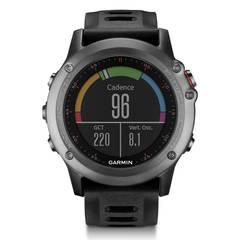 Спортивные часы Garmin Fenix 3 cерые с черным ремешком (с датчиком) 010-01338-11