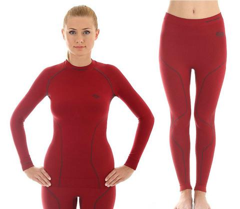 Комплект термобелья женский Brubeck Thermo красный