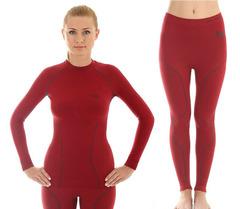 Комплект термобелья женский Brubeck Thermo (LS10670-LE10950) красный