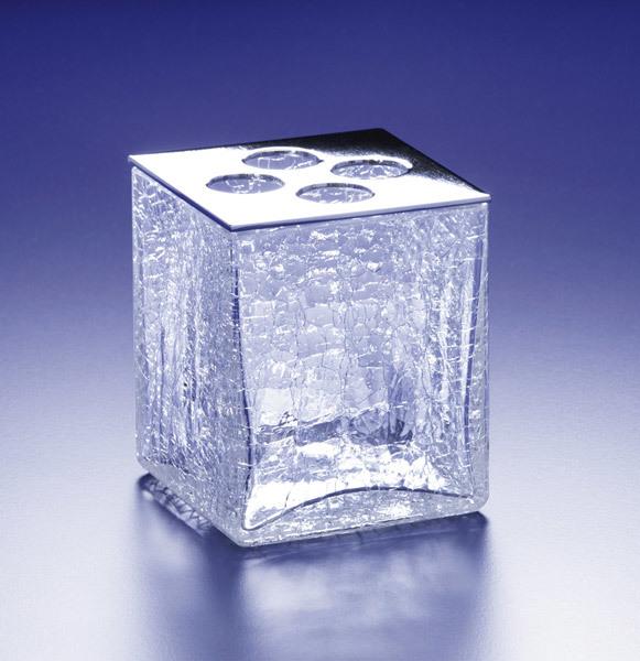 Стаканы для щеток Стакан для зубных щеток Windisch Box Craquele хром stakan-dlya-zubnyh-schetok-windisch-box-craquele-hrom-ispaniya.jpg