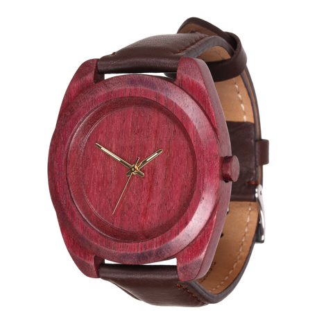 Часы из дерева AA Wooden Watches Айкон Амарант