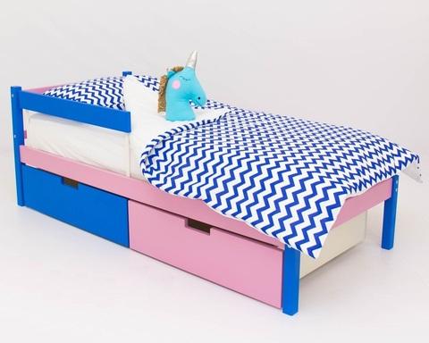 Кровать ФОРЕСТ синий-лаванда
