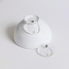 Серьги «плоские кольца» из прозрачного пластика  оптом и в розницу