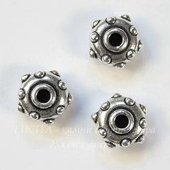 Бусина - рондель TierraCast 11х6 мм (цвет-античное серебро)