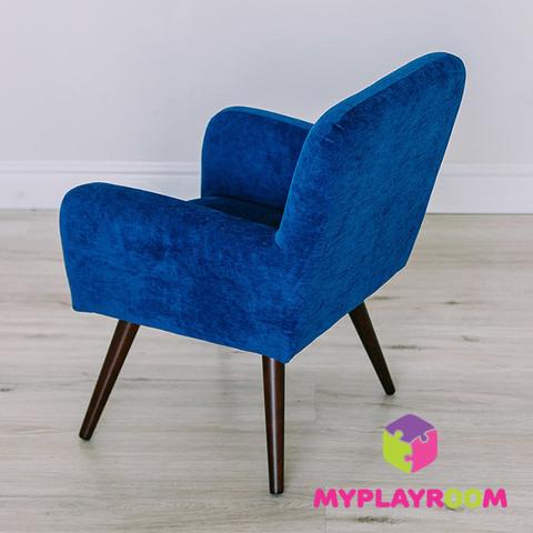 Детское стильное кресло в стиле 60-х, глубокий синий 6