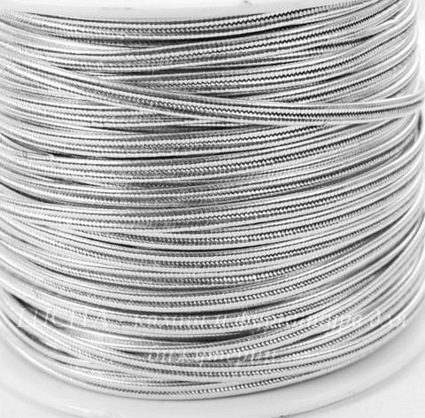 Сутаж, 4х1 мм, цвет - серебро, примерно 1 м