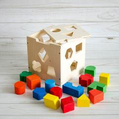 Кубик сортер деревянный