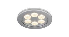 SLV 111992 — Светильник потолочный встраиваемый EYEDOWN LED 6x1W downlight, круглый, алюминий, теплый белый свет, 3000K