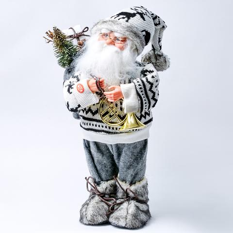 """Новогодний музыкальный декор  """"САНТА-КЛАУС В СВИТЕРЕ"""" 40см"""