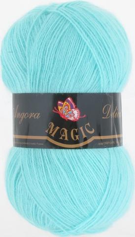 Пряжа Angora Delicate Magic 1111 Светлая зеленая бирюза - купить в интернет-магазине недорого klubokshop.ru