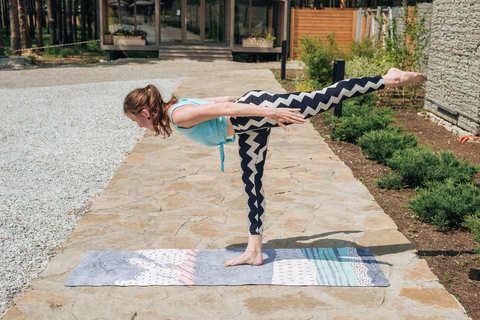 Каучуковый коврик для йоги Moderno 183*61*0,3см
