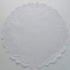 Салфетка кондитерская ажурная 32см 24 штуки BE-0367 белая