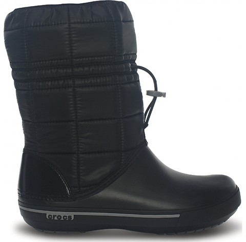 Женские зимние дутики Crocs Women's Crocband™ II.5 Boot Black/Smoke