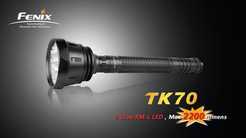 Фонарь Fenix TK70 (3 х Cree XM-L, 2200лм, 4 x D)