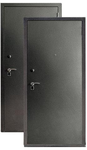Сейф-дверь Сибирь S-3/3, 2 замка, 1,5 мм  металл (серебро+серебро)