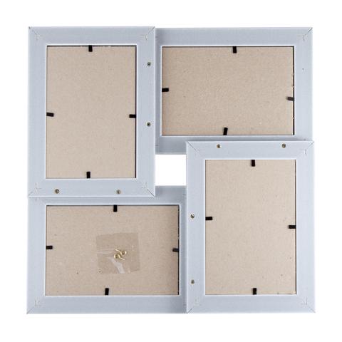 Мультирамка пл. Галерея (морозное серебро) арт. КВ-415 на 4 фото 10x15 10 шт
