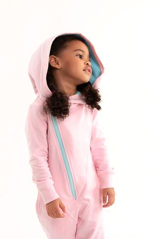 Комбинезон с косой молнией Anlikids цвет светло-розовый