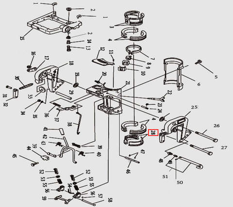 Втулка струбцины разрезная нижняя для лодочного мотора T9.8 Sea-PRO (11-28)