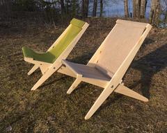 Кресло-шезлонг складное (ткань)
