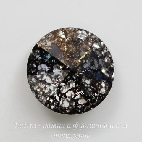 1122 Rivoli Ювелирные стразы Сваровски Crystal Black Patina (SS39) 8,16-8,41 мм
