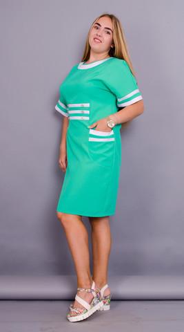 Ванесса. Сукня великих розмірів. М'ята.